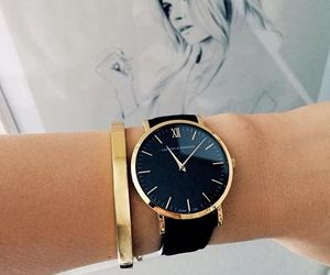 watch, fashion, and black image