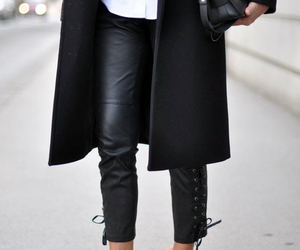 bag, black&white, and shoes image