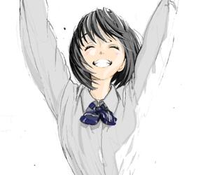 anime, nice, and school image