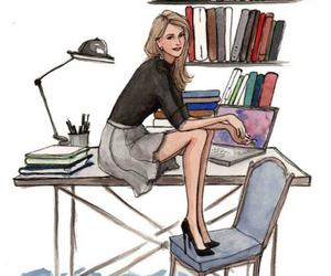 fashion, girl, and illustration image