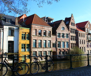 belgium, canal, and Gent image