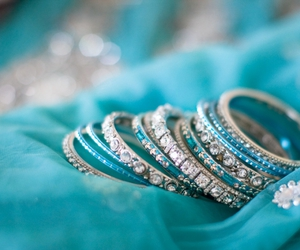 bracelet, blue, and accessories image