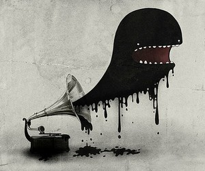 music, monster, and art image