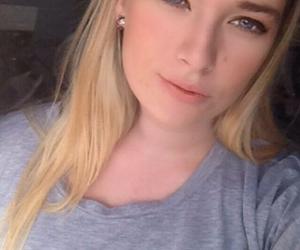 blonde hair, model, and blue eyes image