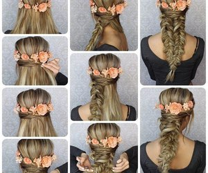 hairstyle, tutorial, and braid image