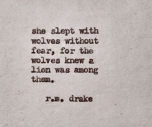 quote, wolf, and lion image