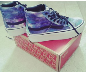 clothes, vans, and galaxy image