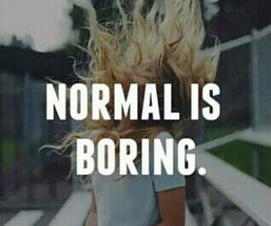 normal, boring, and crazy image