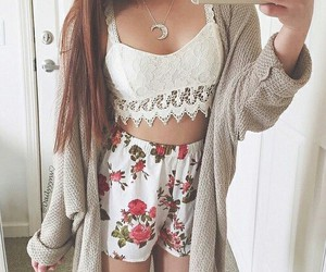 beauty, outfit, and girl style image