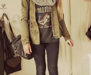 girl, drmartens, and green image
