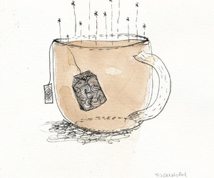 coffee, cup, and illustration image