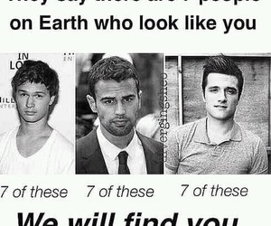 josh hutcherson, theo james, and ansel elgort image
