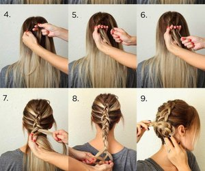 hair, hairstyle, and hair tutorial image