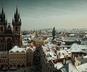 prague, city, and snow image