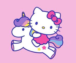 hello kitty and unicorn image