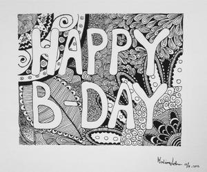art, artwork, and birthday card image