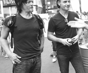 norman reedus, andrew lincoln, and andrew image