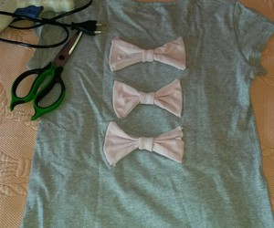 bow, diy, and fabric image
