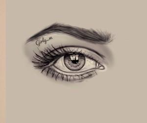 eye, sketch, and girly_m image