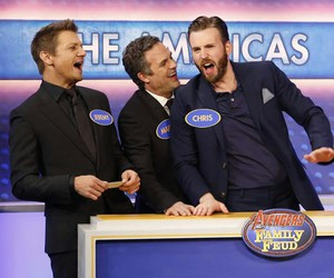 chris evans, mark ruffalo, and jeremy renner image