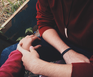 couple, hands, and indie image