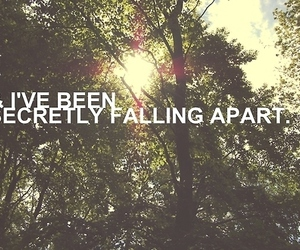apart, falling, and secret image