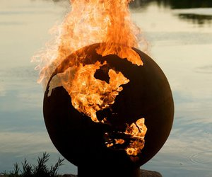 fire, world, and earth image