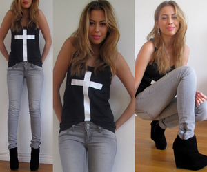 black, cross, and jeans image
