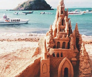 beach, summer, and castle image
