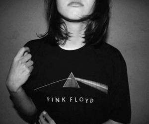Pink Floyd, girl, and black and white image