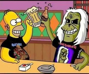 iron maiden, beer, and the simpsons image