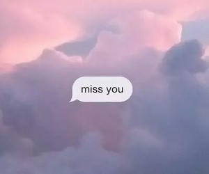 miss you, sky, and pink image