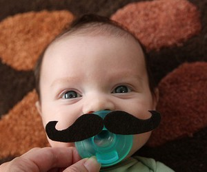 baby, cute, and mustache image