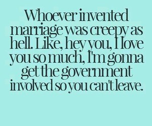 marriage, funny, and love image