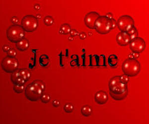 hearts, love you, and je taime image