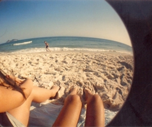 beach, justsaybee, and fisheye image