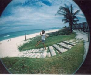beach, fisheye, and justsaybee image