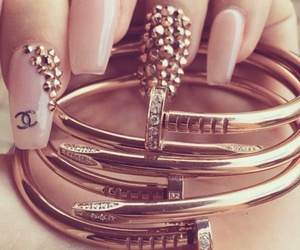 nails, chanel, and bracelet image