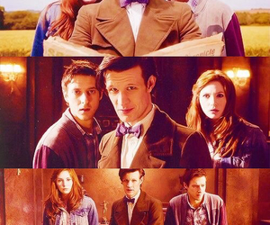doctor who, amy pond, and eleventh doctor image