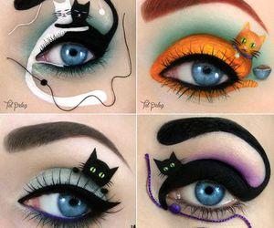 cat, eyes, and make up image