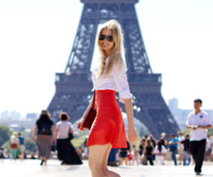 blonde, gorgeous, and eiffel tower image