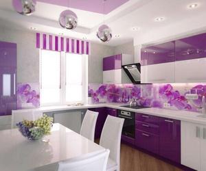 kitchen, purple, and home image