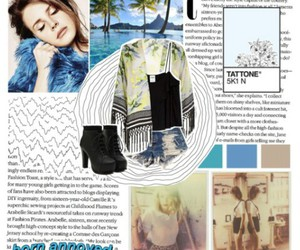 blue, outfit, and Polyvore image