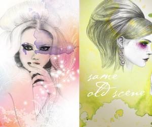 art, fashion drawing, and girl image