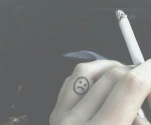 cigarette, dark, and Darkness image
