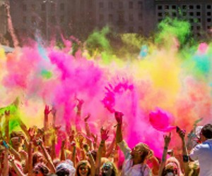 party, fun, and holi image