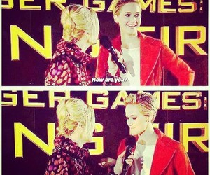 Jennifer Lawrence, funny, and catching fire image