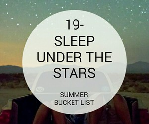 summer and summer bucket list image
