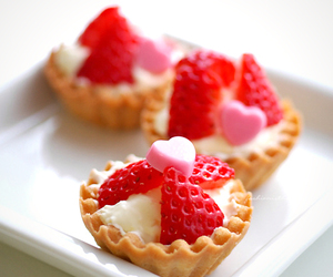 strawberry, food, and heart image