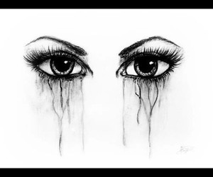 cry, eyes, and art image